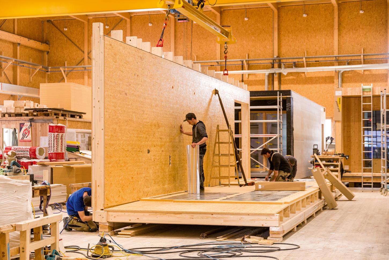 Głównym elementem konstrukcji jest EGGER OSB 4 TOP w maksymalnych wymiarach.                                                                                   Fot. Fotostudio Rene Paulweber, źródło: EGGER