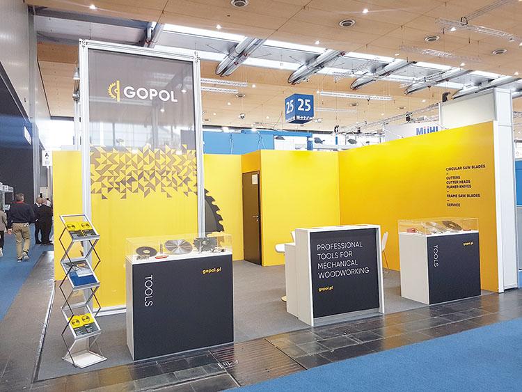 Firma GOPOL prezentowała swoje wyroby na targach LIGNA po raz trzeci.     Fot. Alicja Bagnucka