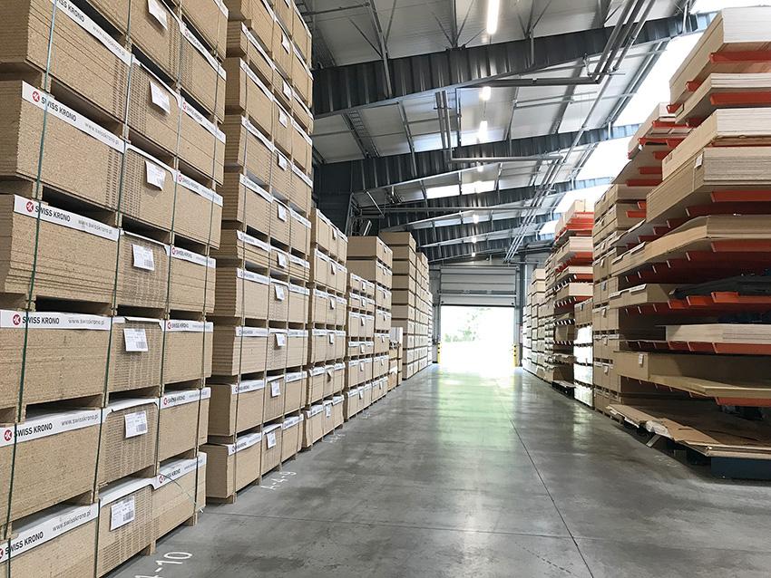 HEBAN posiada trzy hale magazynowe o powierzchni 1000 metrów kwadratowych każda. Fot.  KD MEDIA